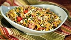 A simple salad that will have everyone wanting seconds! ingredients MEXICAN STREET CORN SALAD 1 tablespoon olive oil 6 ears of corn (shucked, kernels removed) 1 Corn Salad Recipes, Corn Salads, Easy Salads, Veggie Recipes, Mexican Food Recipes, Healthy Recipes, Ethnic Recipes, Corn Recipe, Mexican Meals
