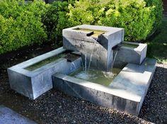 Fuentes de jardín modernas