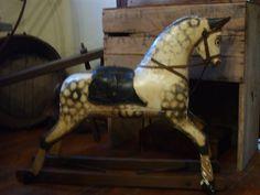 Old wood dapple gray horse
