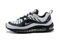 purchase cheap 41049 7f091 Mens Shoes Nike Air Max 98 White Hyper Cobalt Black Metallic Silver 640744  102 Mens Nike