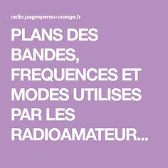 PLANS DES BANDES, FREQUENCES ET MODES UTILISES PAR LES RADIOAMATEURS. REGIONS 1, 2 ET 3 DE L'UIT. Plans, Band