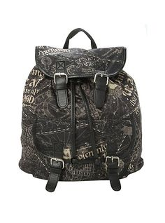 Harry Potter Solemnly Swear Slouch Backpack | Hot Topic