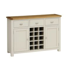 Beautiful Lundy Stone Sideboard with Wine Rack. Free UK Delivery on all large sideboard orders. Sideboard With Wine Rack, Large Sideboard, Modern Country Style, Grey Stone, Dining Room Furniture, Table Linens, Cupboard, Dinner Parties, Cutlery