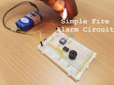 Circuit diagram, working and applications of simple fire alarm circuit using Thermistor, Germanium diode, and Electronics Mini Projects, Diy Electronics, Circuit Drawing, Simple Circuit, Computer Setup, Arduino Projects, Circuit Diagram, Circuit Board, Projects To Try
