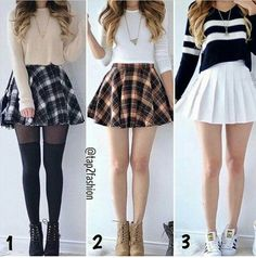 Pin by liliana on rl outfit designs in 2019 teenager tøj, tø Ddlg Outfits, Teen Fashion Outfits, Cute Fashion, Outfits For Teens, Girl Outfits, Diy Fashion, Cute Skirt Outfits, Cute Casual Outfits, Cute Skirts