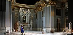 Opera Australia's incredible 2013 set for Act 1 of Puccini's Tosca, a new production by John Bell with sets by Michael Scott-Mitchell.