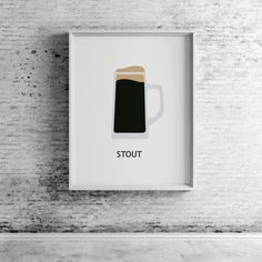 Beer Stout Printable Wall Art Prints and by CompassionPrints CompassionPrints, Stout Beer, Beer Art Prints, Beer Print, Beer mug, Beer Glass, Beer Illustration, Beer Art