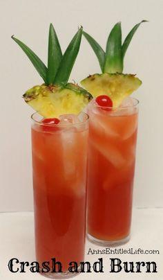 Crash and Burn Cocktail Recipe  http://www.annsentitledlife.com/wine-and-liquor/crash-and-burn-cocktail-recipe/