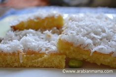 Egyptian Rawani cake recipe.