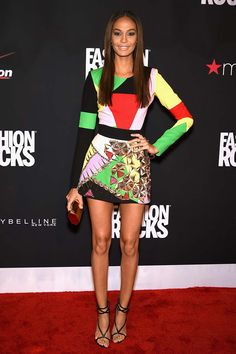 Joan Smalls in Fausto Puglisi - Fashion Rocks 2014
