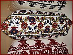 Magyar népművészet: Délalföldi szőrhímzések Hímzett párnavégek