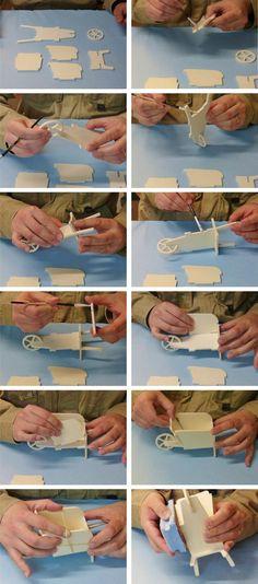 Construire une brouette miniature (23 cm) Minicrea