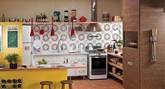 Cozinha decorada e organizada