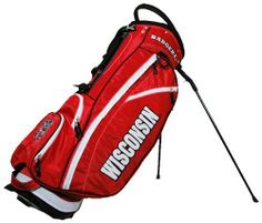 NCAA Wisconsin Badgers Fairway Stand Bag by Team Golf. $129.99. Integrated top handle and 14-way full length dividers. Fleece-lined valuables pouch and removable rain hood. Umbrella holder and towel ring. 6 location embroidery and 5 zippered pockets. 2 lift assist handles and cooler pocket. This lightweight bag is feature full, including integrated top handle, 14-way full length dividers, 6 location embroidery, 5 zippered pockets, 2 lift assist handles, cooler...