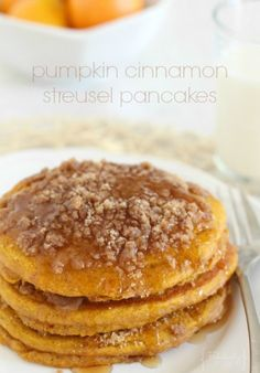 These pumpkin cinnamon streusel pancakes are the best pumpkin pancakes ...