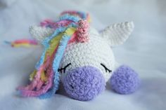 Sleeping unicorn pony crochet pattern amigurumi
