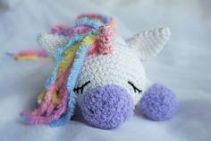 Sleeping unicorn pony crochet pattern amigurumi
