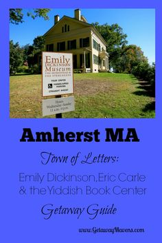 Even if you never set foot on the campuses of Amherst College, Hampshire College or UMass, get away to Amherst MA for the authors, the books, and the lively conversations they spark. And of course for the shear beauty of the river valley.