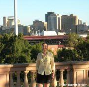Marisa Angelis Artist Designer Writer Poet Philanthropist Humanitarian Promoter, fronting the city of Adelaide, South Australia