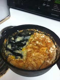 Peaches, white cake mix, sprite or 7 up and more....extraORDINARY Mom: Dutch Oven Cobbler