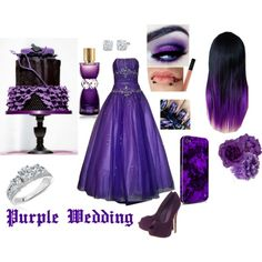 """Purple Wedding"" by kgrinder on Polyvore"