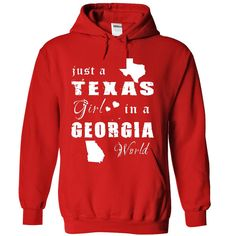 #Funny,FunnyTshirts... Awesome T-shirts  Price: $34.99Purchase Now    Low cost Codes   View pictures & pictures of TEXAS GIRL IN GEORGIA t-shirts & hoodies:For those who do not completely love our design, you'll be able to SEARCH your favourite one through the use of se...