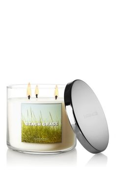 Beach Grass 14.5 oz. 3-Wick Candle - Slatkin & Co. - Bath & Body Works -- Run don't walk.  Glorious!