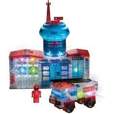 New Lite Brix Fire Station & Truck 3D Light Up #Construction #Building Bricks #LiteBrix #FireStation