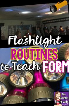 """Flashlight routines in music class can be used to reinforce form and keep students engaged and excited about learning. This post shares routines for """"Cantina Band"""" by John Williams and """"March"""" from the Nutcracker as well as tips and tricks for using them successfully in your music classroom."""
