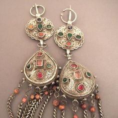 "Morocco...ancient fibules in silver and stones and coral...very soon on my site www.halter-ethnic.com under ""My Lucky Finds""...pieces for collectors!"
