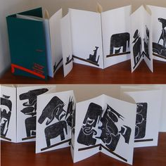 Using the same 16 animals, Mari went on to create the limited edition children's bookL'Altalenain 1961.This wordless accordion book,exploring the concepts of shape,quantity, weight and balance,has recently been reprinted by the excellentItalian publisher Corraini