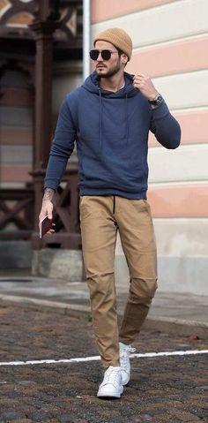Grey Chinos Men, Chinos Men Outfit, Men Shorts, Men's Chinos, Pants For Men, Shoes For Men, Blue Chinos, Men's Pants, Mens Fall Outfits