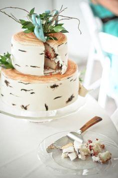 Rustic homemade wedding cake  Red Lodge Montana Wedding by Kat Skye Photography  #rustic #wedding #cake