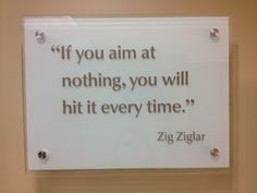 Great quote from the lobby of Financial Peace Plaza