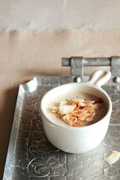 Coconut Nutmeg Pudding (sub corn starch for arrowroot powder or potato starch)