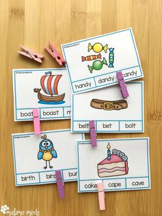 Practice foundational skills and phonics with these cute beginning sounds and alphabet clip cards! Great for word recognition practice as well, with the two different card types.