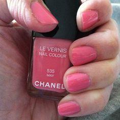 Chanel May nail polish #chanel #nailpolish #nails #nailpolishaddict  #pinknailpolish #chanelnailpolish #nails