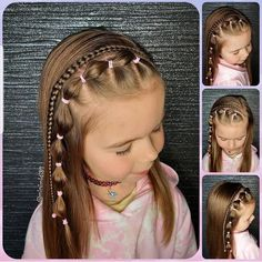 Cute Toddler Hairstyles, Easy Little Girl Hairstyles, Lil Girl Hairstyles, Princess Hairstyles, Pretty Hairstyles, Girl Hair Dos, Girly Girl, Hair Styles, Makeup