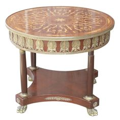 French Empire Style Round Table