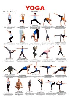 What are the benefits of yoga? How does the daily discipline of yoga affect the body, mind and spirit? What is the History of Yoga? Yoga is a holistic health and wellness activity that both relaxes… Yoga Chart, Yoga Poses Chart, Basic Yoga Poses, Iyengar Yoga, Yoga Asanas Names, Yoga Sequences, Yoga Poses With Names, Yoga Beginners, Sup Yoga
