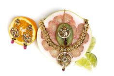 Malini Jewelry Set, with Citrus Fruits