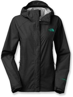 The North Face Venture Rain Jacket - Womens | $74.99 | Size: M | Color: Black Heather/Kokomo