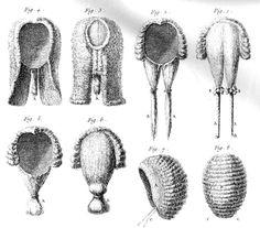 Diferents perruques antigues