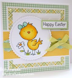 Hello all :) I can finally share with you an Easter card that was recently in Paper Crafter Magazine . This was a quick make, but how cu. Easter Chick, Easter Card, Digi Stamps, Happy Easter, I Card, Handmade Cards, Projects To Try, Kitty, Magazine