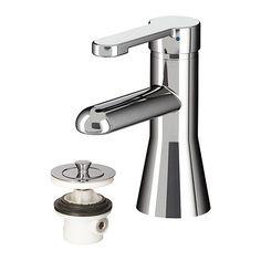 RÖRSKÄR Mitigeur lavabo avec bonde, chromé 59,99$