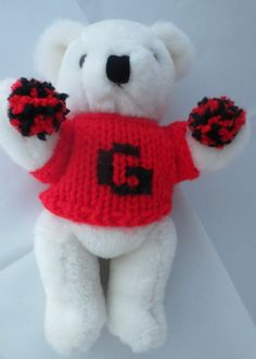 Georgia Bulldogs UGA Plush Stuffed Bear Cheerleader  | Sports Mem, Cards & Fan Shop, Fan Apparel & Souvenirs, College-NCAA | eBay!