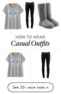 """casual"" by jacintavandongen on Polyvore featuring rag & bone and UGG Australia"