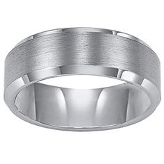 Triton Men's 8.0mm Comfort Fit Tungsten Carbide Wedding Band - View All Rings - Zales