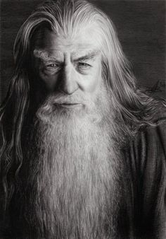 Pencil sketch - Gandalf the Grey