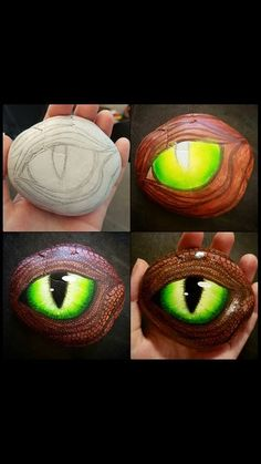 Eye Rock, Dragon Eye Rock, Loving this vanilla blonde created by the team using for that silk thread finish Hand painted rock - Dragon eye design - Gift, Paper weight, Original artwork Eye Painting, Pebble Painting, Pebble Art, Stone Painting, Stone Crafts, Rock Crafts, Arts And Crafts, Rock Painting Designs, Paint Designs